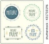 nature frame   Shutterstock .eps vector #431733196