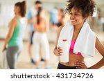 happy young half caste girl... | Shutterstock . vector #431734726