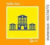 hospital icon. eps 10. | Shutterstock .eps vector #431736772