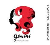 gemini zodiac sign. beautiful... | Shutterstock .eps vector #431736976