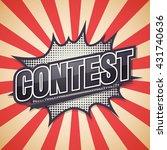 contest  retro poster  vector... | Shutterstock .eps vector #431740636