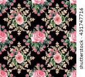 floral seamless pattern in...   Shutterstock .eps vector #431747716