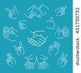 business hand gestures linear...   Shutterstock .eps vector #431750752