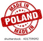 made in poland stamp | Shutterstock .eps vector #431759092
