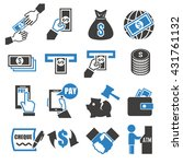 wage  money  pay icon set | Shutterstock .eps vector #431761132
