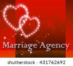 marriage agency showing... | Shutterstock . vector #431762692