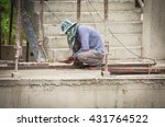 welder man working at new... | Shutterstock . vector #431764522