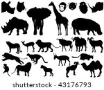 collection of african animals | Shutterstock .eps vector #43176793