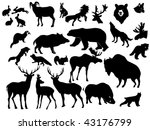 collection of forest animals | Shutterstock .eps vector #43176799