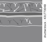 horizontal seamless  pattern of ... | Shutterstock . vector #431773048