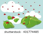 vector image of red ladybirds... | Shutterstock .eps vector #431774485