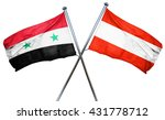 syria flag with austrian flag ... | Shutterstock . vector #431778712
