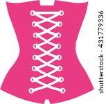 pink corset | Shutterstock .eps vector #431779336
