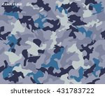 camouflage seamless pattern... | Shutterstock .eps vector #431783722