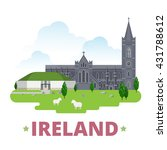 ireland country design template.... | Shutterstock .eps vector #431788612