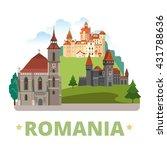 romania country magnet design... | Shutterstock .eps vector #431788636