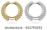 detailed round silver and... | Shutterstock .eps vector #431793352
