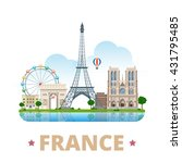 france country design template. ... | Shutterstock .eps vector #431795485