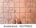 Feet Selfie From Upper View Of...