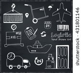 hand drawn logistics and... | Shutterstock .eps vector #431801146