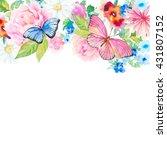 invitation card for wedding...   Shutterstock . vector #431807152