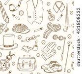 gentleman vintage accessories... | Shutterstock .eps vector #431808232