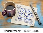 pareto principle or eighty... | Shutterstock . vector #431813488