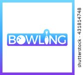 skittle and bowling ball.... | Shutterstock .eps vector #431814748
