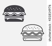 burger line icon  hamburger... | Shutterstock .eps vector #431814976