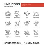 set of modern vector plain line ... | Shutterstock .eps vector #431825836