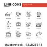 set of modern vector simple... | Shutterstock .eps vector #431825845