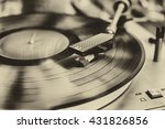 textured retro image in sepia... | Shutterstock . vector #431826856