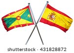 grenada flag with spain flag ... | Shutterstock . vector #431828872