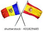 moldova flag with spain flag ... | Shutterstock . vector #431829685