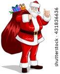 a vector illustration of santa... | Shutterstock .eps vector #431836636