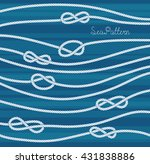 vector navy ropes with knots... | Shutterstock .eps vector #431838886