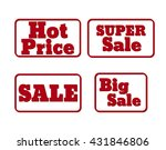 set of red sale stamps. hot... | Shutterstock .eps vector #431846806