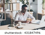 making some notes. concentrated ... | Shutterstock . vector #431847496