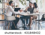 at the meeting with finance... | Shutterstock . vector #431848432