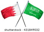 bahrain flag with saudi arabia... | Shutterstock . vector #431849032