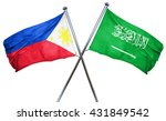 philippines flag with saudi... | Shutterstock . vector #431849542