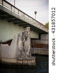 Small photo of The Zouave statue of the Alma bridge in Paris