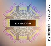 geometric vector background.... | Shutterstock .eps vector #431863432
