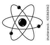 atom with nucleus and electrons.... | Shutterstock .eps vector #431863462