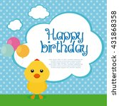 isolated cute chicken with... | Shutterstock .eps vector #431868358