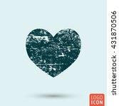 heart icon. grunge heart symbol....
