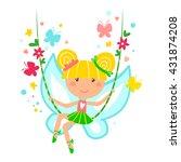 little fairy vector... | Shutterstock .eps vector #431874208