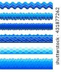 blue waves sea ocean vector...   Shutterstock .eps vector #431877262