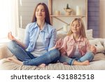 beautiful young mother and her... | Shutterstock . vector #431882518