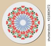 round pattern. circular...   Shutterstock .eps vector #431883472